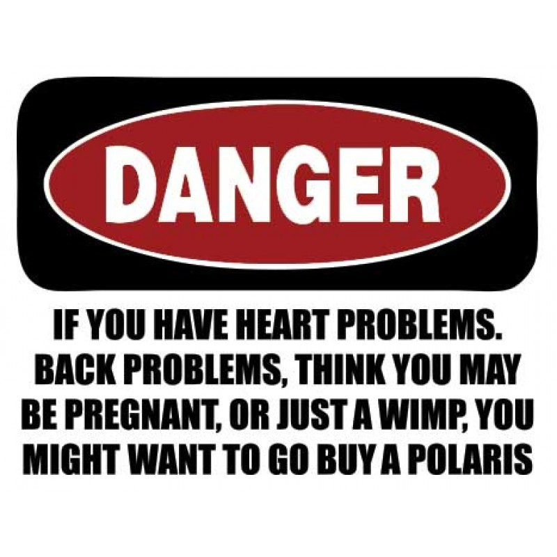 Polaris Funny Danger Decal Kit- Many Colors to Chose From