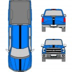 6 INCH  Racing Stripe for Ford, Ram, Chevrolet, GMC + MORE - Many Colors to Chose From