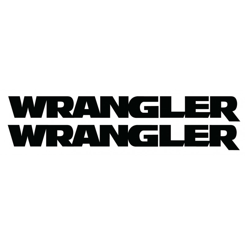 WRANGLER Decal Kit, Fits Jeep and other Vehicles ,Not OEM - Many Colors to Chose From