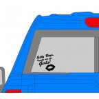 Silly Boys, Trucks Are For Girls Decal - Many Colors to Chose From