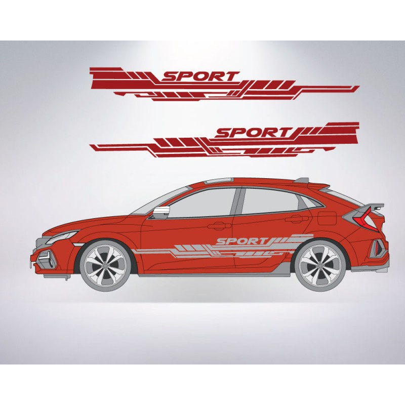 Sport Side Abstract for Ford, Honda, Chevrolet, GMC + MORE - Many Colors to Chose From