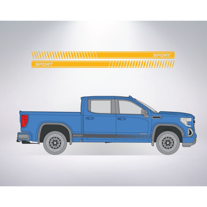 Sport Side Stripes for Ford, Honda, Chevrolet, GMC + MORE - Many Colors to Chose From
