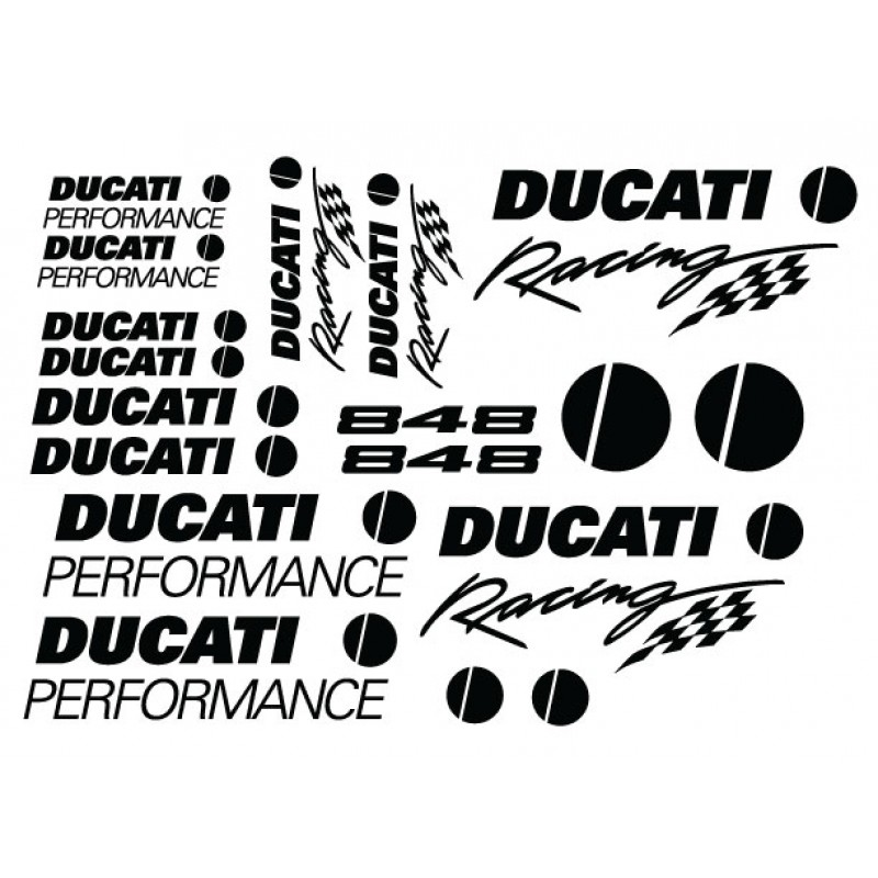 Ducati 848 Decal Kit - Many Colors to Chose From