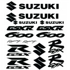 Suzuki GSXR600 Racing Decal Kit - Many Colors to Chose From