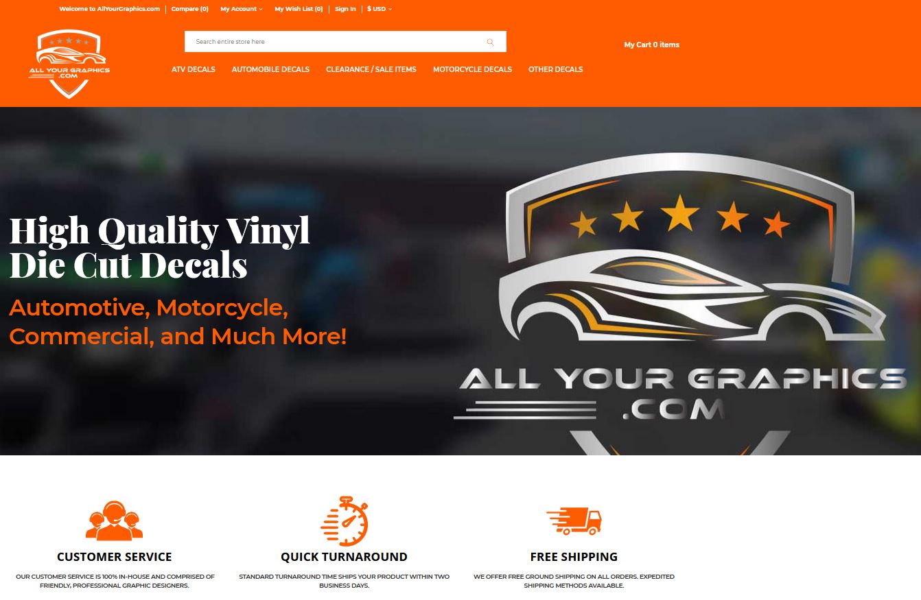 All Your Graphics has developed a new website, logo and new identity!
